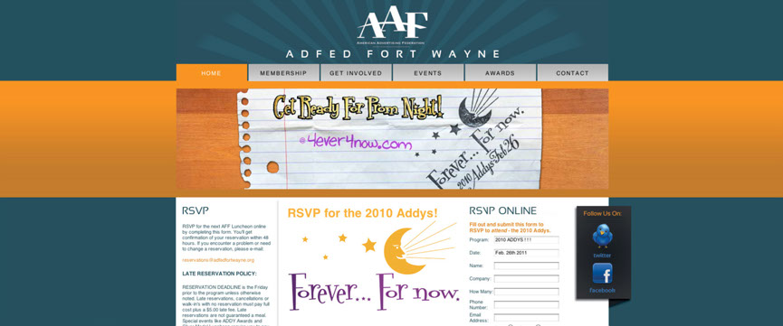 American Advertising Federation of Fort Wayne home page