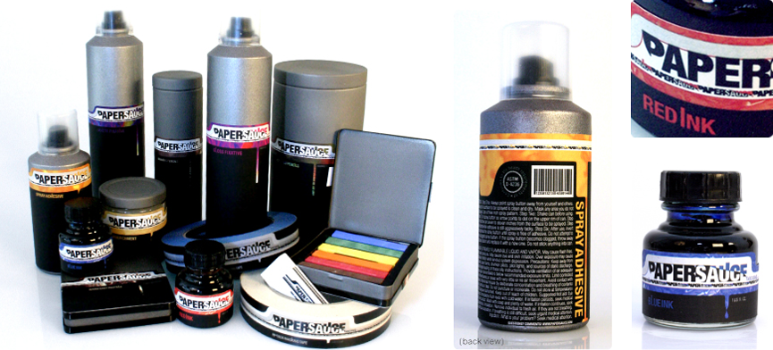 Paper Sauce artist supply set and detail shots
