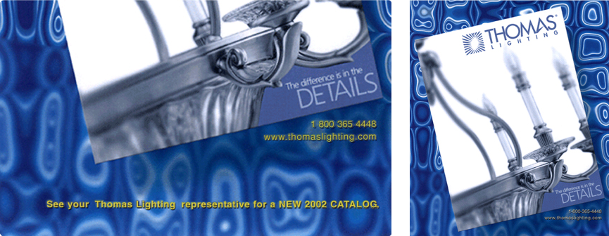 Thomas Lighting catalog cover and detail